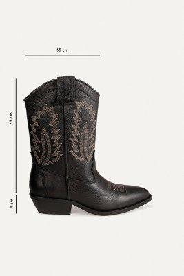 Shoecolate Shoecolate Cowboylaarzen Hak Zwart 8.20.08.559.01