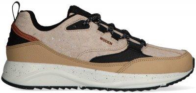 Woden Beige Woden Lage Sneakers Malou Cork