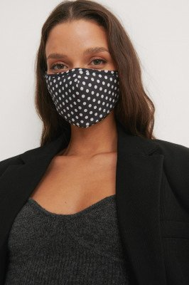 NA-KD Accessories NA-KD Accessories 2-Pack Fitted Dotted Mask - Black