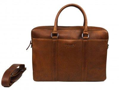 DSTRCT DSTRCT Premium 15,6 inch Laptoptas Cognac