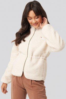 Fila FILA Hajar Sherpa Fleece Jacket - White