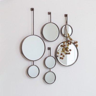 BePureHome BePureHome Spiegel 'Chain' 58 x 20cm, kleur Antique Black