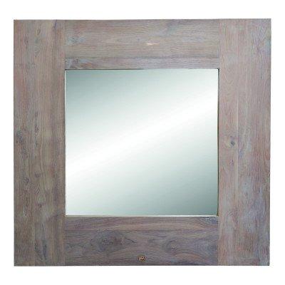 Firawonen.nl Ryan wood grey big mirror square
