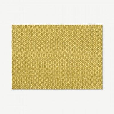 MADE.COM Mira geweven vloerkleed, 160 x 230cm, Chartreuse geel