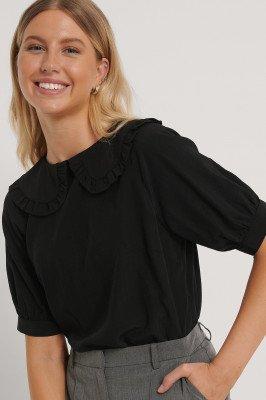 NA-KD Boho NA-KD Boho Big Collar Blouse - Black