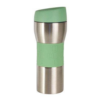Thermo drinkfles - groen - 400 ml