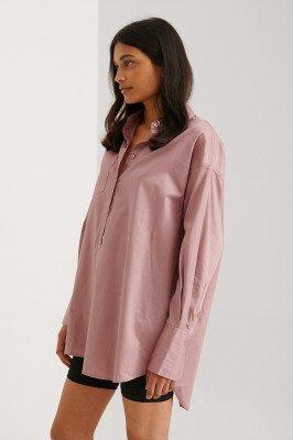 NA-KD Trend NA-KD Trend Gerecycleerd Oversized Shirt Met Zakken - Pink