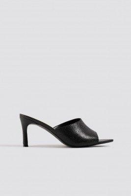 NA-KD Shoes Pointy Sole Peeptoe Pumps - Black
