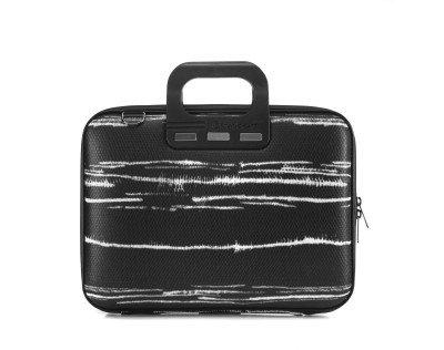 Bombata Bombata Black&White Laptoptas 13 inch Black