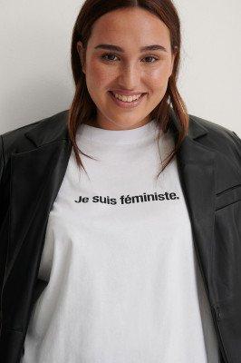NA-KD NA-KD Organisch Je Suis Feminist T-shirt - White