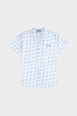 BALR. AOP Doll Box Fit Shirt S/S Light Stone/Sky