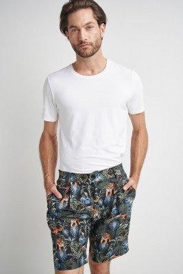 Komodo Bobby Pleat Shorts SOS Print