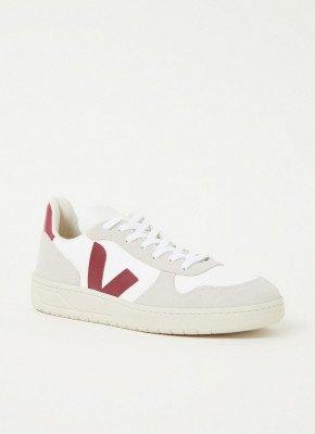 Veja Veja V-10 sneaker met leren en suède details