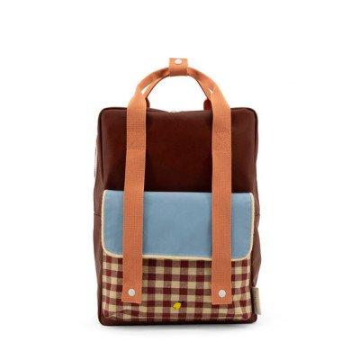 Sticky Lemon Sticky Lemon Large Backpack Gingham Cherry Red + Sunny Blue + Berry Swirl