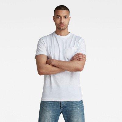 G-Star RAW Contrast Mercerized Pocket T-Shirt - Wit - Heren