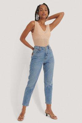 Mango MANGO Mom Jeans - Blue
