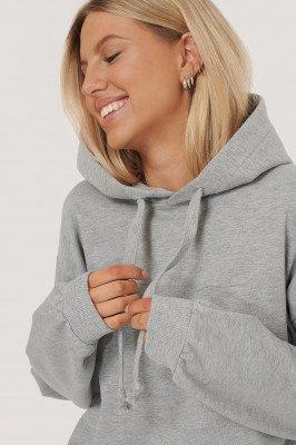 NA-KD Basic Basic Hoodie - Grey