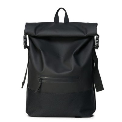 Rains Rains Buckle Roll Top Backpack Black
