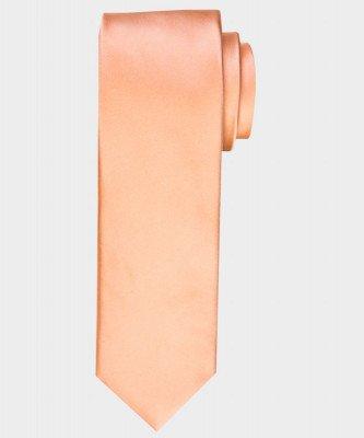 Michaelis Michaelis heren satijnen zijden stropdas oranje