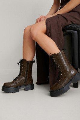 NA-KD Shoes NA-KD Shoes Laarzen - Brown