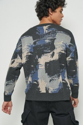 nu-in 100% Recycled Camo Knit Jumper