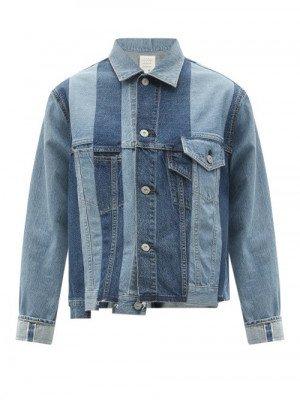 Matchesfashion Kuro - Patchworked Denim Jacket - Womens - Denim