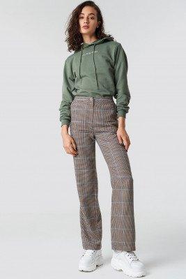 Astrid Olsen x NA-KD Astrid Olsen x NA-KD Checked Suit Pants - Brown,Beige