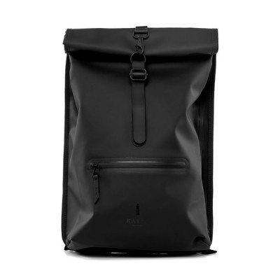 Rains Rains Roll Top Backpack Black