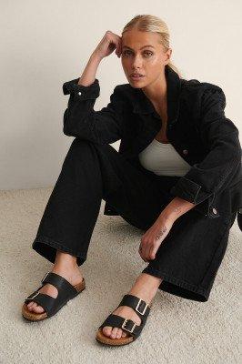 NA-KD Shoes NA-KD Shoes Slippers Met Voetbed Met Gespen - Black