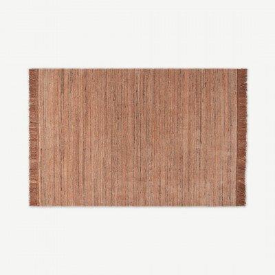 MADE.COM Celsi wollen vloerkleed, groot, 160 x 230 cm, plamuurroze