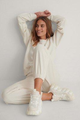 NA-KD Reborn Organisch Sweater Met Lange Mouwen - Offwhite