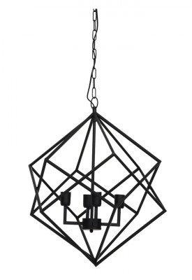 Light & Living Light & Living Hanglamp 'Drizella' 4-Lamps, mat zwart