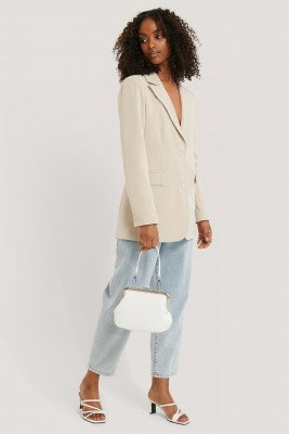 NA-KD Accessories Ostrich Look Clasp Bag - White