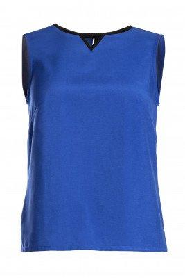 MAHLA MAHLA unisex vegan Top Electric Blauw Donkerblauw L Gerecycled plastic (visnetten, flesjes, nylon, polyester)/Viscose (rayon)