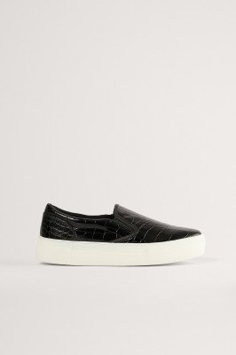 NA-KD Shoes NA-KD Shoes Croc Slip In Trainers - Black
