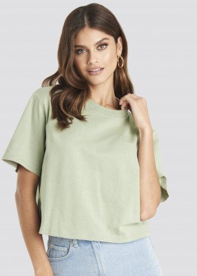 NA-KD Basic Oversized T-Shirt - Green