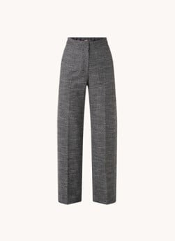 Maje Maje Pinala high waist straight fit pantalon met micro pied-de-poule dessin