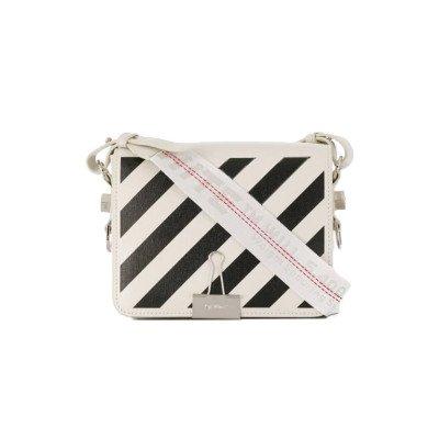 Off-White Off-White Diag Binder Clip Crossbody Bag White Black