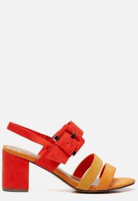 marco tozzi Marco Tozzi Sandalen met hak geel