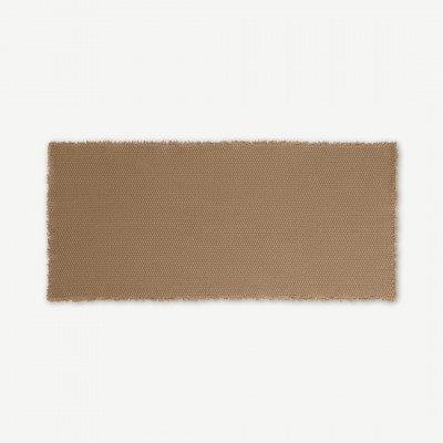 MADE.COM Dessa badmat, 100% katoen, groot 50 x 110 cm, esdoorn