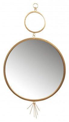 BePureHome BePureHome Spiegel 'Tail' Ø51cm, kleur Antique Brass