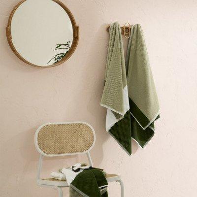 MADE.COM Aiko set van 4 handdoeken, groen