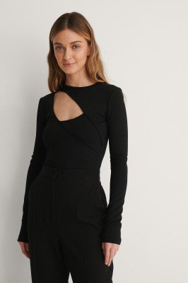 Curated Styles Curated Styles Cut-Out Top - Black