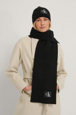 Calvin Klein Calvin Klein Beanie Scarf Set - Black