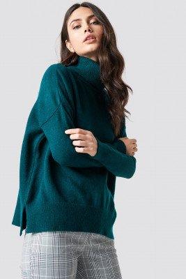 Trendyol Trendyol Turtle Neck Basic Sweater - Blue
