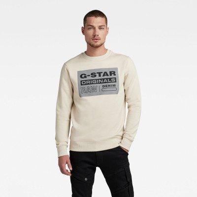 G-Star RAW Original Label R sweater - Beige - Heren