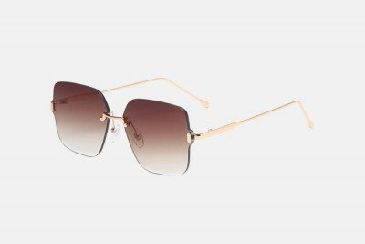 Blank-Sunglasses NL VICE. - Gold with brown