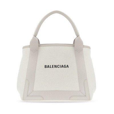 Balenciaga Navy Small Cabas Bag