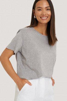 NA-KD Basic Basic Oversized T-Shirt - Grey