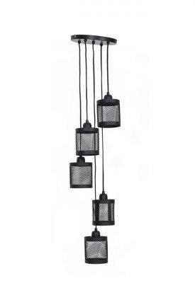 Light & Living Light & Living Hanglamp 'Laetitia' 25cm, mat zwart